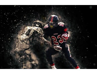 Sports Action CutOut Digital Art Ice Desgin